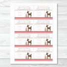 "Pink Willow Deer Printable Baby Shower ""Guess How Many?"" Game Cards #A200"
