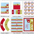 Farm Animals Barn Friends Printable Birthday Party Package #A293