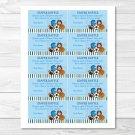 Sports Football Baseball Soccer Printable Baby Shower Diaper Raffle Tickets #A119