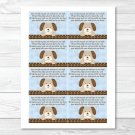Polka Dot Puppy Dog Printable Baby Shower Book Request Cards #A116