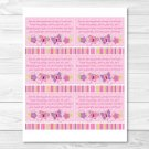 Baby Girl Pink Butterfly Printable Baby Shower Book Request Cards #A221