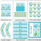 Under The Sea Baby Boy Nautical Printable Baby Shower Party Package #A237