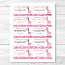 Pink Giraffe Jungle Safari Printable Baby Shower Diaper Raffle Tickets #A240