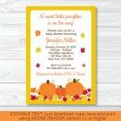 Fall Pumpkin Printable Baby Shower Invitation Editable PDF #A341
