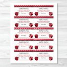 Little Red Ladybug Printable Baby Shower Diaper Raffle Tickets #A177