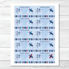 Lil Aviator Blue Airplane Printable Baby Shower Diaper Raffle Tickets #A112