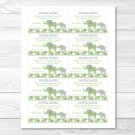 Green Polka Dot Elephant Jungle Printable Baby Shower Diaper Raffle Tickets #A212