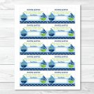 Sail Away Sailboat Nautical Green Printable Baby Shower Diaper Raffle Tickets #A210