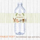 Woodland Animals Water Bottle Labels Printable Editable PDF #A191