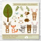 Woodland Forest Animals Clipart #A191