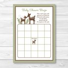 Woodland Deer Baby Shower Bingo Cards Printable #A131