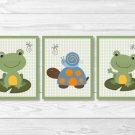 Turtle Frog Snail Nursery Wall Art Printable #A360