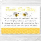 Bumble Bee Baby Shower Book Request Cards Printable #A359
