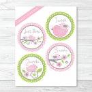 Baby Bird Monthly Milestone DIY You Print PDF Stickers & Iron On Transfers #A266