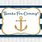 Nautical Gold Anchor Party Favor Thank You Tags #A365