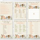 Woodland Animals Baby Shower Games Pack - 6 Printable Games #A191