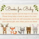 Woodland Forest Animals Baby Shower Book Request Cards Printable #A191