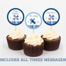 Airplane Cupcake Toppers Party Favor Tags Red And Blue Printable #A155