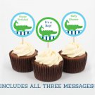 Alligator Cupcake Toppers Party Favor Tags Printable #A157