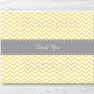 Yellow Chevron Thank You Card Printable #A356