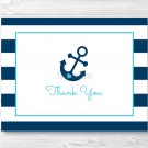 Nautical Blue Anchor Thank You Card Printable #A222