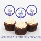 Lavender Butterfly Garden Cupcake Toppers Party Favor Tags Printable #A218