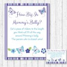 Lavender Butterfly Garden How Big Is Mommys Belly Baby Shower Game #A218