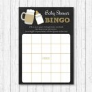 BaByQ Baby Is Brewing BBQ Printable Baby Shower Bingo Cards #A371