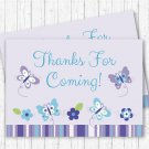 Lavender Butterfly Garden Party Favor Thank You Tags #A218