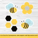 Bumble Bee Party Cutouts Decorations Printable #A134