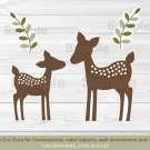 Baby Deer Party Cutouts Decorations Printable #A131