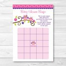 Pink & Purple Owl Printable Baby Shower Bingo Cards #A133