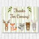 Woodland Animals Party Favor Thank You Tags #A191
