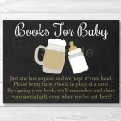 BaByQ Baby Is Brewing BBQ Printable Baby Shower Book Request Cards #A371