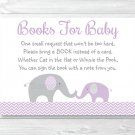 Purple Chevron Elephant Printable Baby Shower Book Request Cards #A184