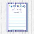 Lavender Butterfly Garden Printable Baby Shower Mommy Advice Cards #A218