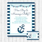 Nautical Anchor How Big Is Mommys Belly Baby Shower Game #A222