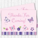 Pink & Purple Butterfly Party Favor Thank You Tags #A220