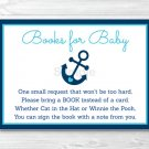 Nautical Anchor Printable Baby Shower Book Request Cards #A222