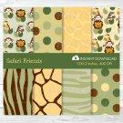 Safari Jungle Animals Digital Paper #A169