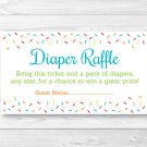 Baby Sprinkle Rainbow Blue Printable Baby Shower Diaper Raffle Tickets #A386
