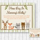 Woodland Forest Animals How Big Is Mommys Belly Baby Shower Game #A191