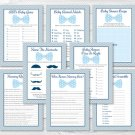 Little Man Bow Tie Baby Shower Games Pack - 8 Printable Games #A369