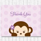 Purple Monkey Thank You Card Printable #A388