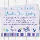 Lavender Butterfly Garden Printable Baby Shower Book Request Cards #A218