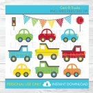 Colorful Cars & Trucks Transportation Vehicles Clipart #A263