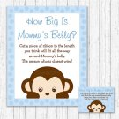 Mod Pop Monkey Blue How Big Is Mommys Belly Baby Shower Game #A175