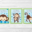 Pop Monkey Kids Bathroom Wash Hands Brush Teeth Printable Bathroom Wall Art #A175