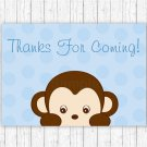 Pop Monkey Blue Party Favor Thank You Tags #A175