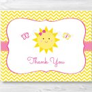 You Are My Sunshine Birthday Thank You Card Printable #A261